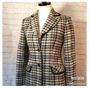 ■Jones NY■ (2P) Wool Long Jacket Blazer